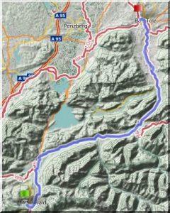 Isar-Donau-Tour - Mittenwald-Bad Tölz