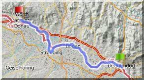 Isar-Donau-Tour - Deggendorf-Wörth